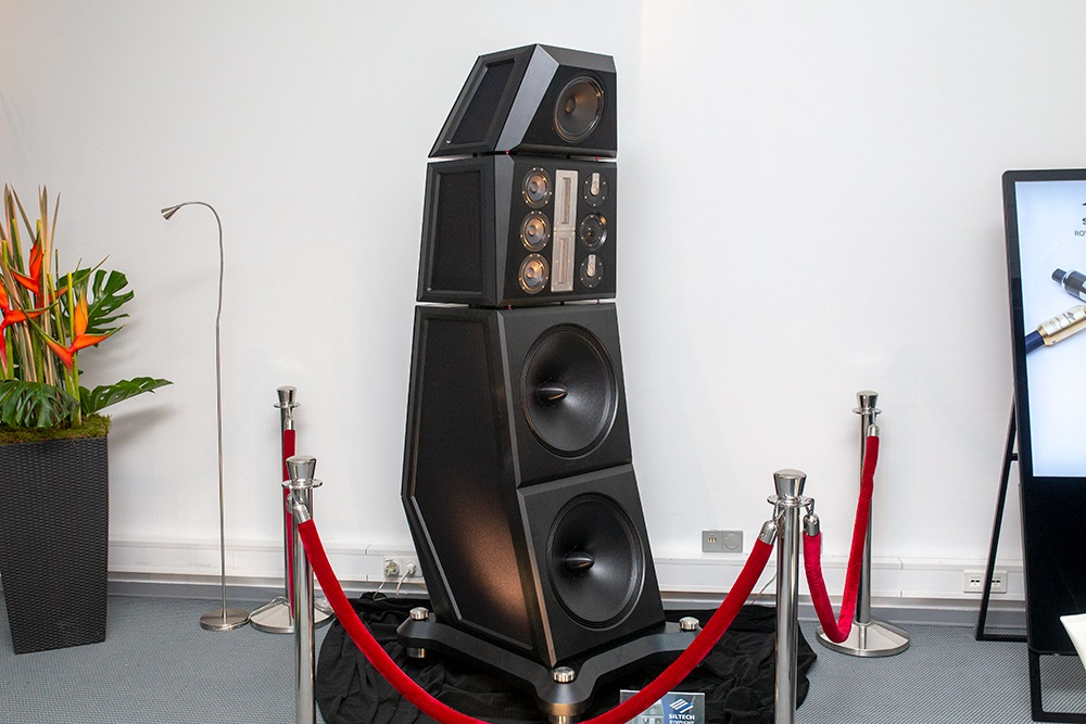 Soundstage Booth with Siltech Symphony Loudspeaker Detail