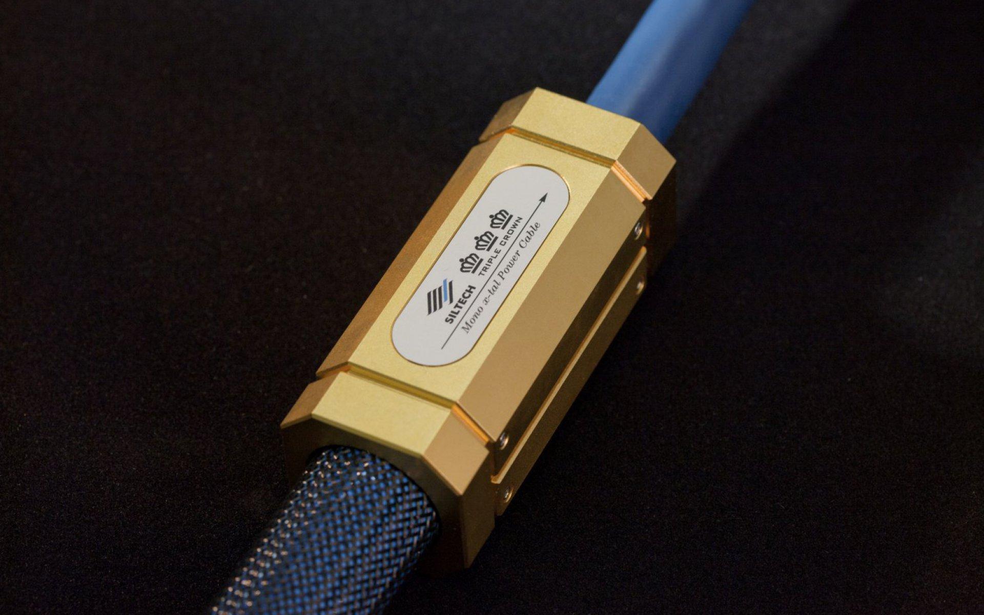 Siltech Triple Crown Power Cable audio Barrel close up