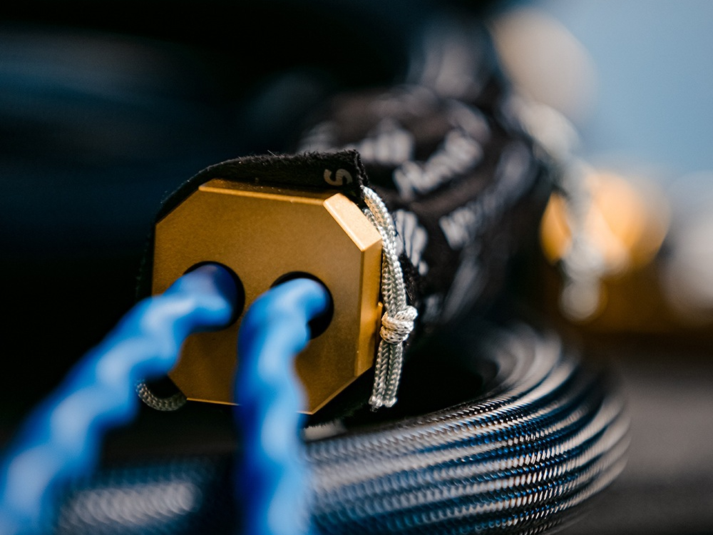 Close Up of Siltech's Triple Crown Audio Cable