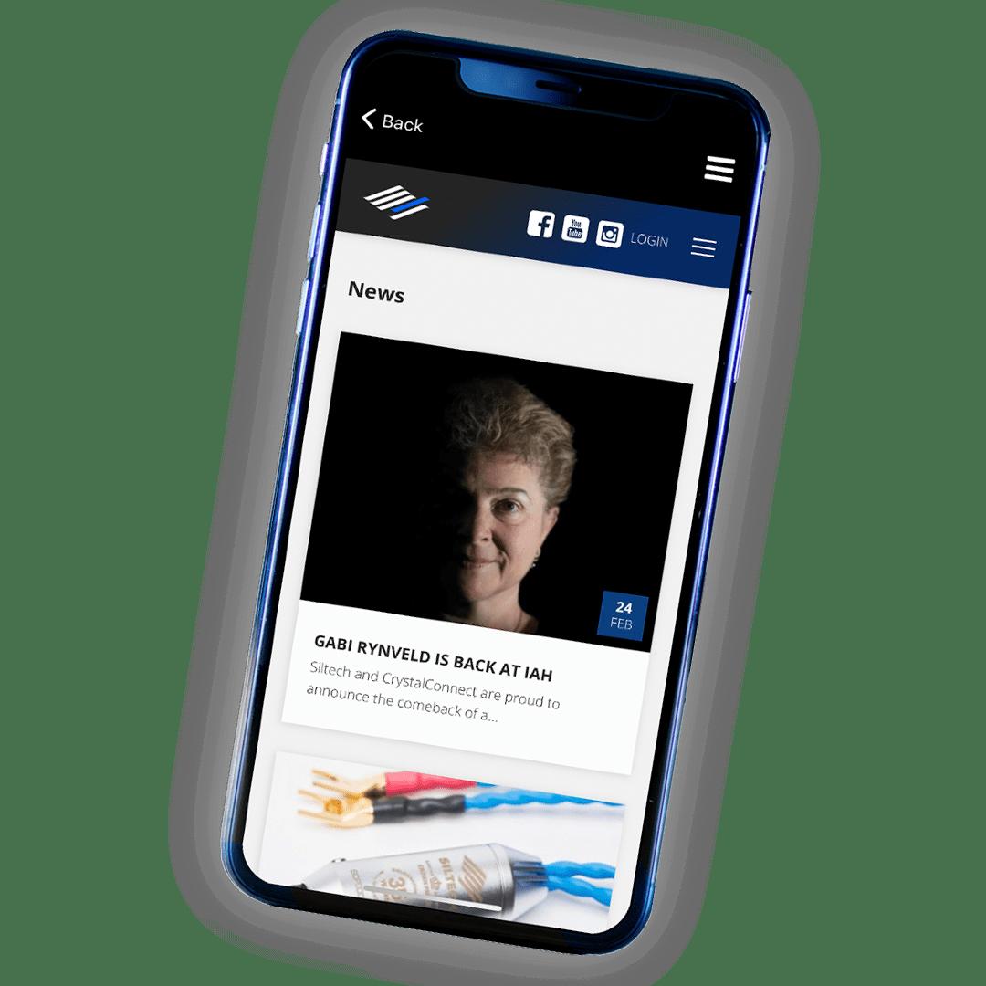 Siltech App news page
