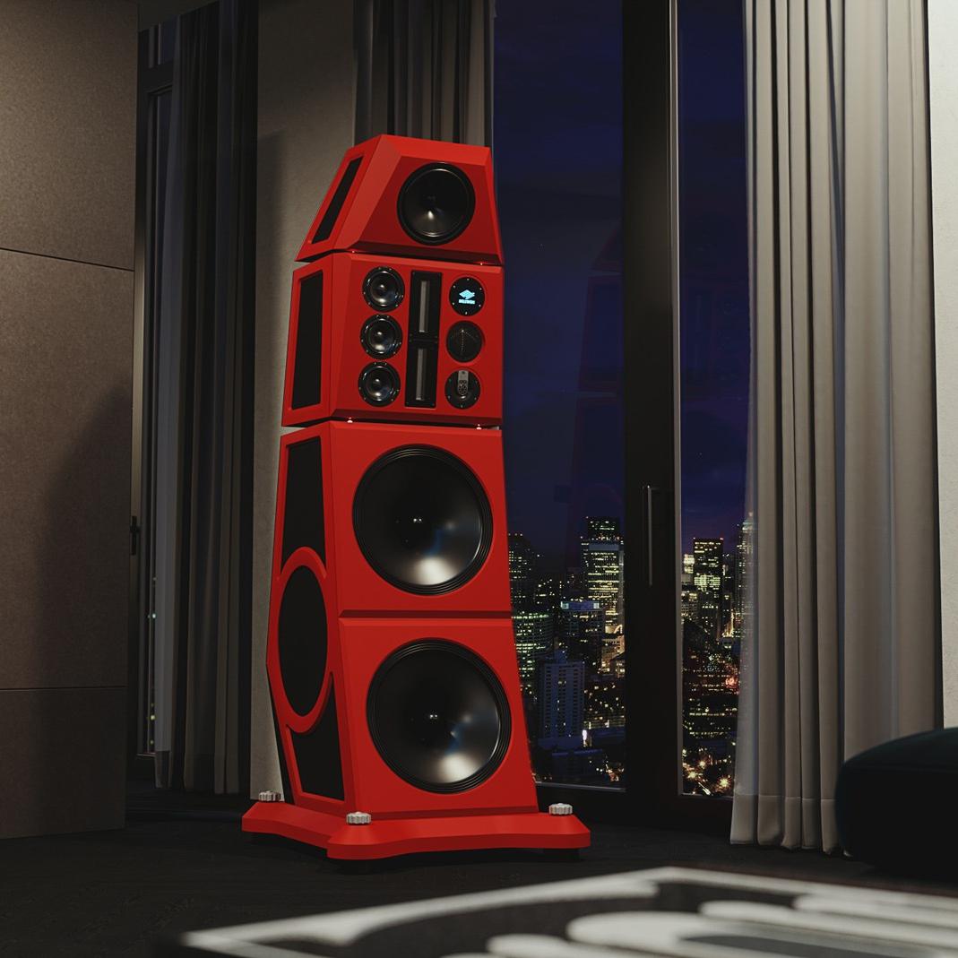Siltech Red Symphony Speaker Close Up